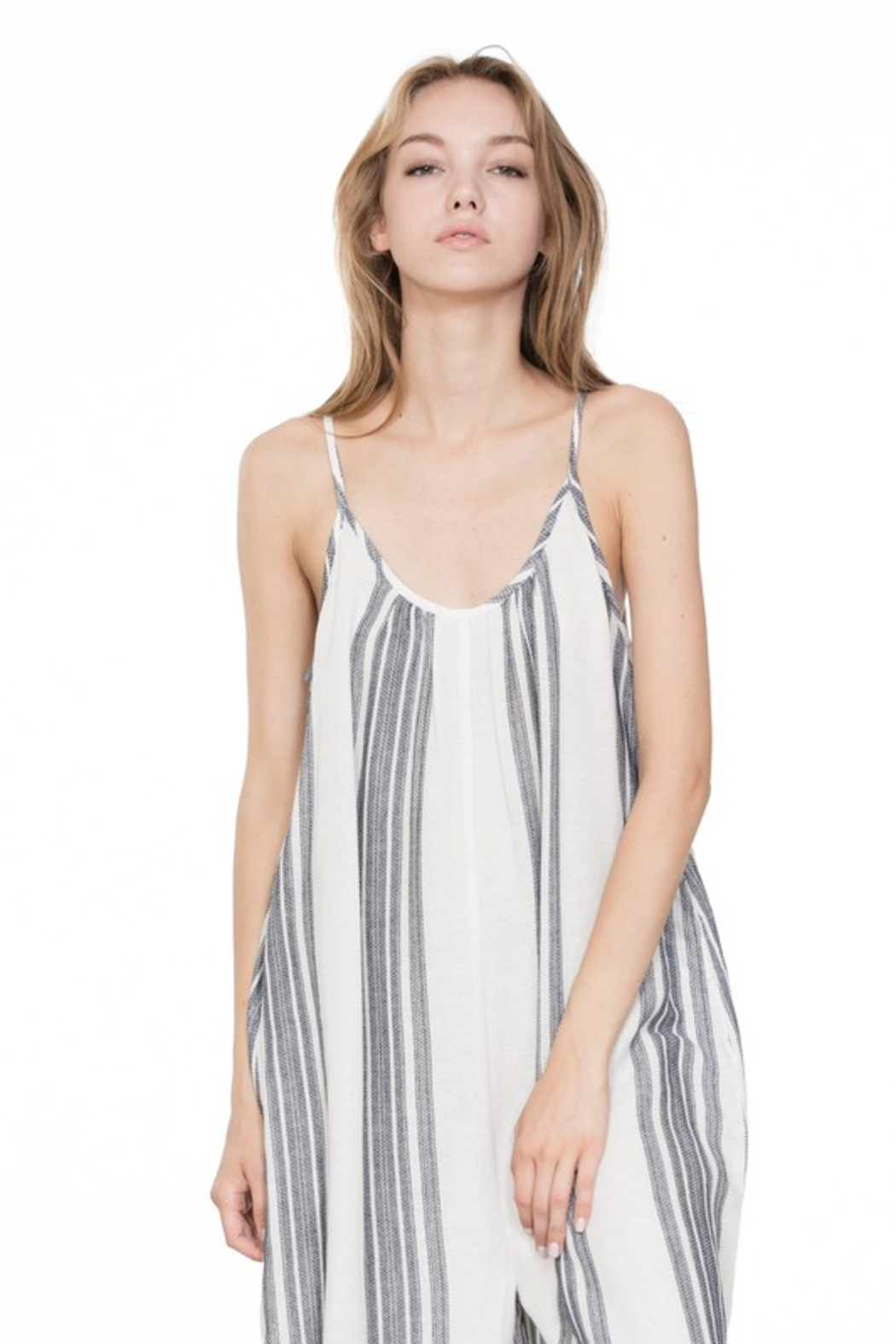 A Beauty by BNB  Baja Stripe Jumpsuit - Main Image