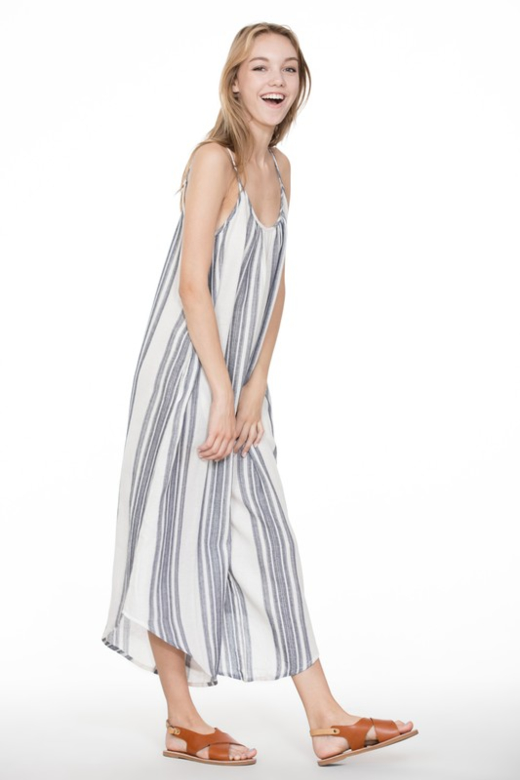 A Beauty by BNB  Baja Stripe Jumpsuit - Back Cropped Image