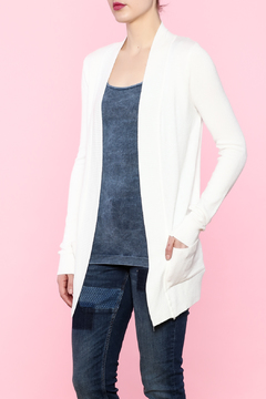Shoptiques Product: Ivory Pocket Cardigan