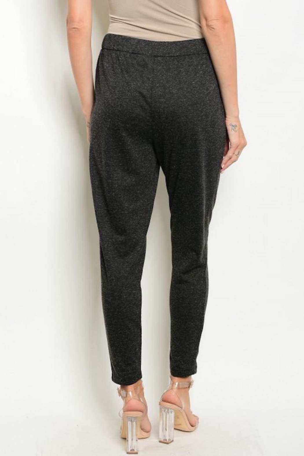 Bajee Collection Charcoal Jogger Pants - Front Full Image