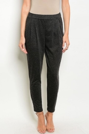 Bajee Collection Charcoal Jogger Pants - Front cropped