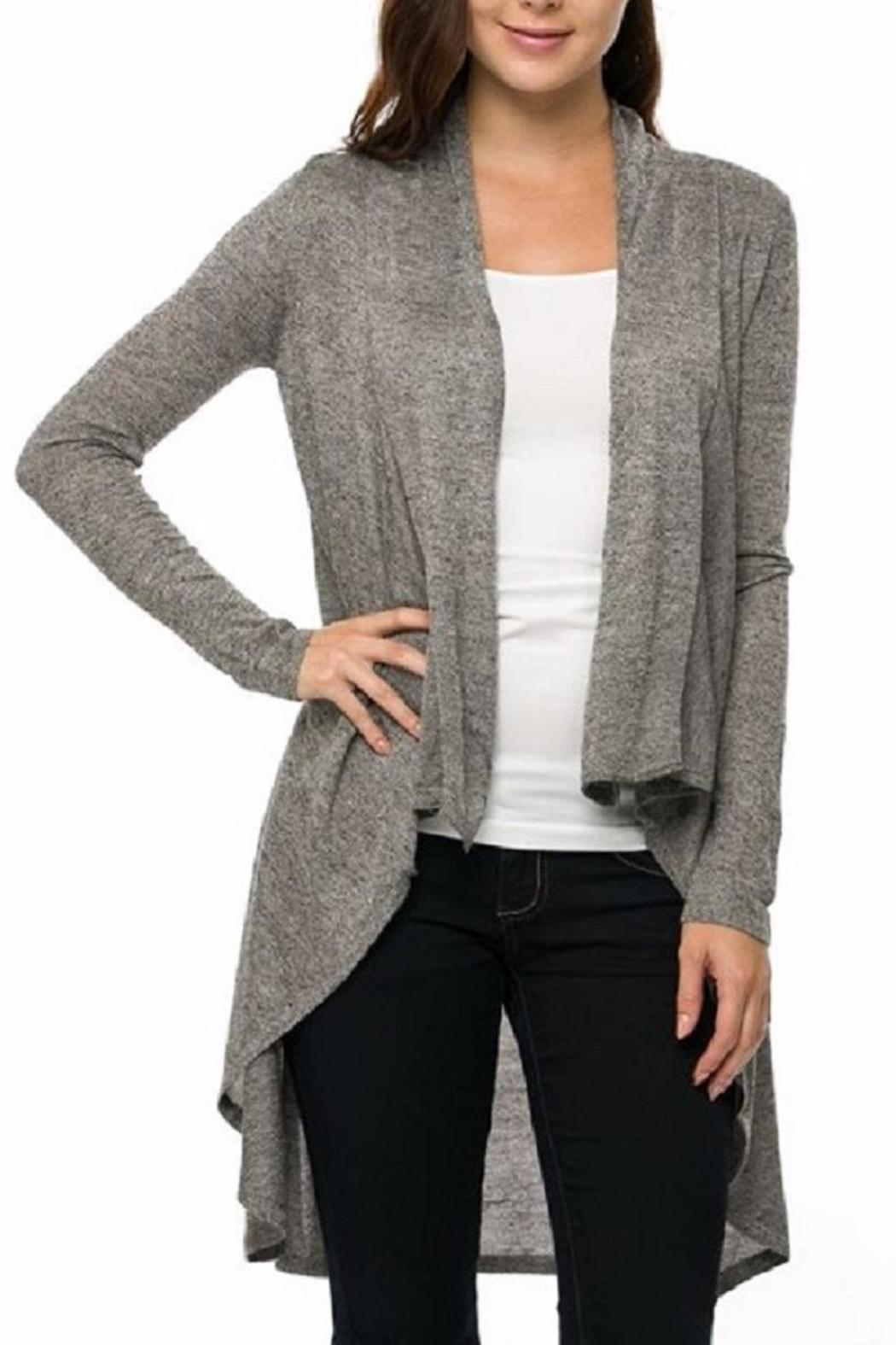 white gallery front vince drape in draped open ivory product drapes lyst clothing cardigan