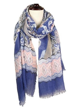 Baked Beads Colorful Paisley Scarf - Alternate List Image