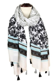 Baked Beads Floral Tassel Scarf - Product Mini Image