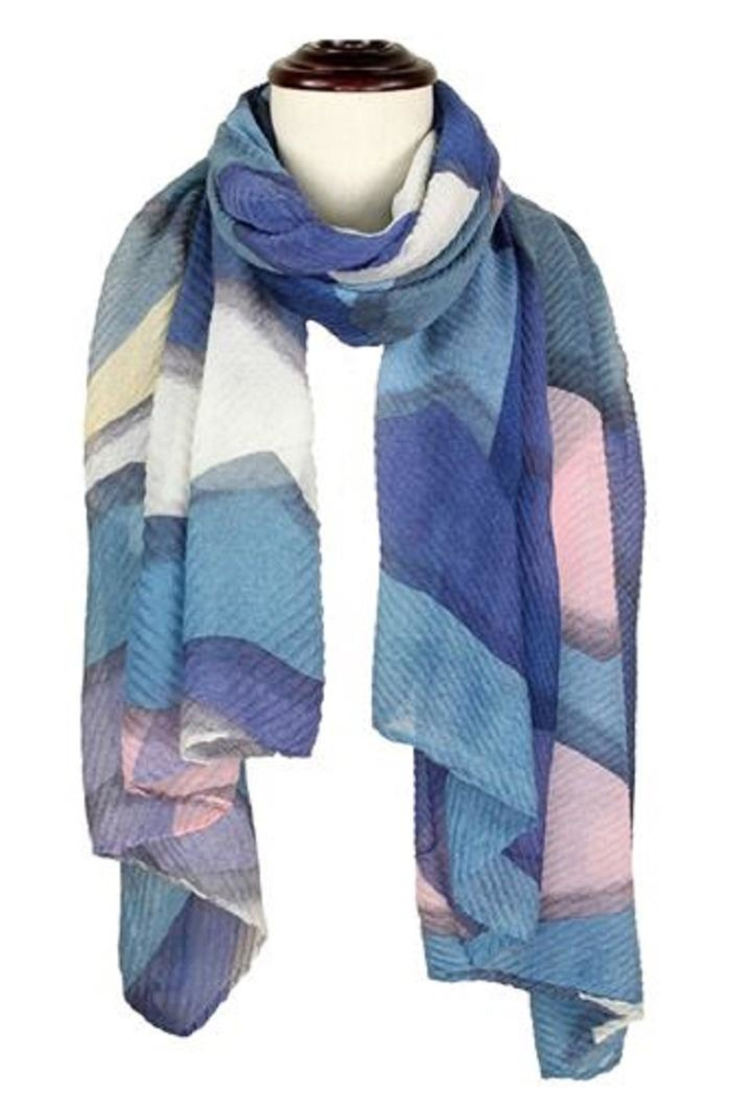 Baked Beads Pleated Abstract Scarf - Front Cropped Image