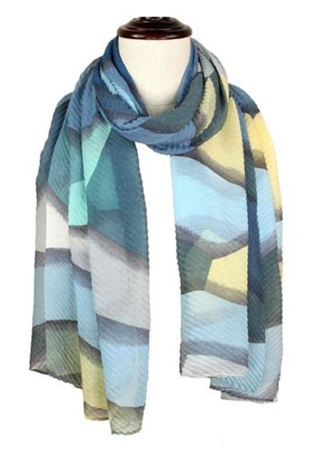 Baked Beads Pleated Abstract Scarf - Main Image