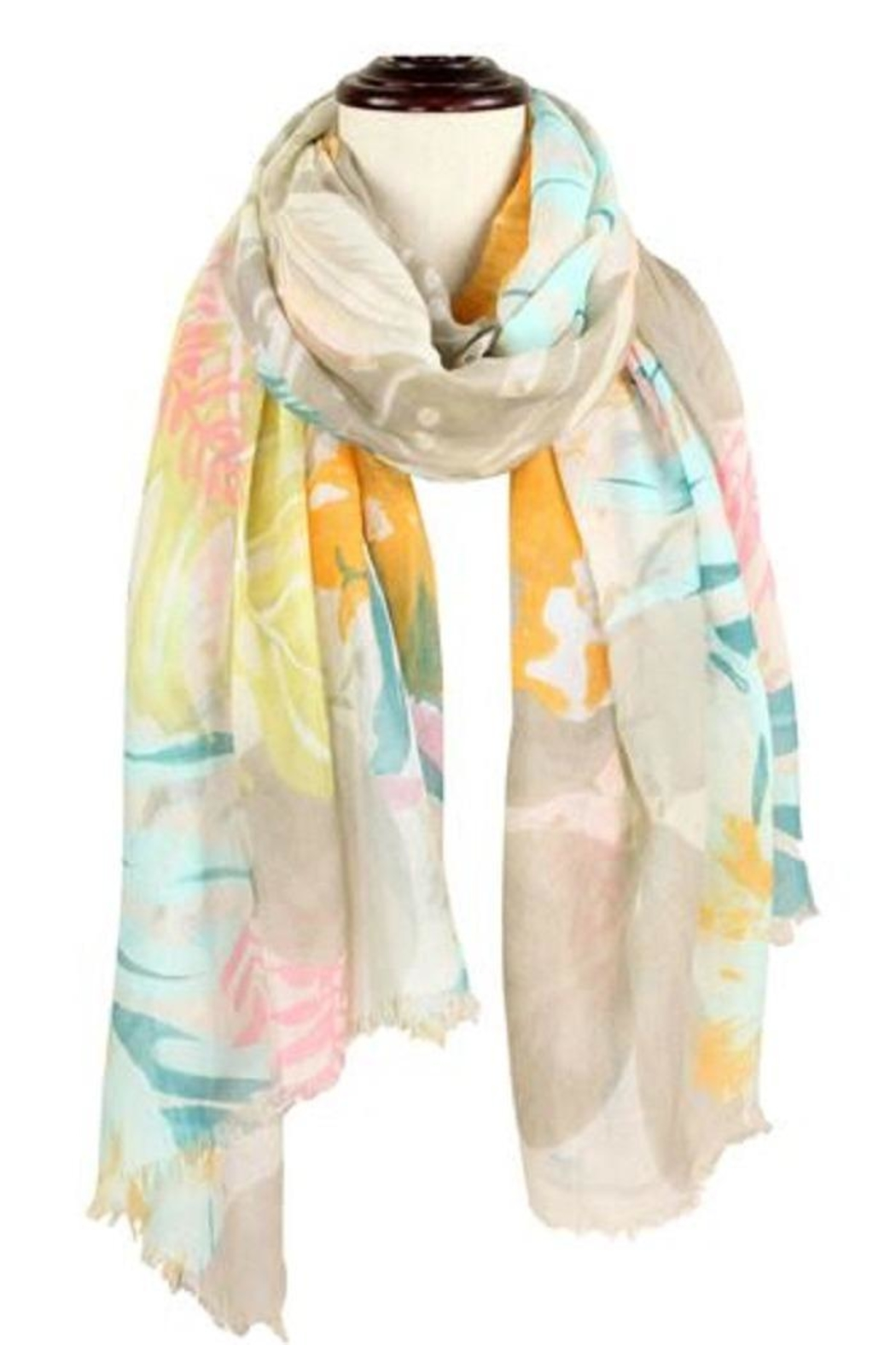Baked Beads Watercolor Flower Scarf - Main Image