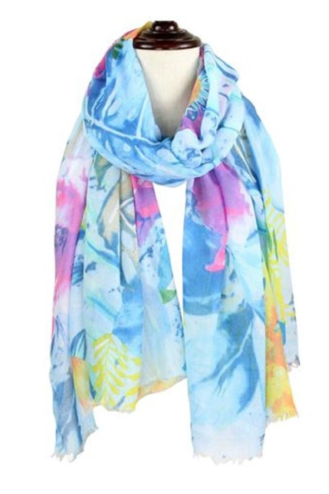 Baked Beads Watercolor Flower Scarf - Front Cropped Image
