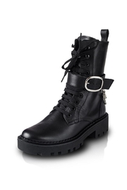 Bala Di Gala Combat Boot Black - Front full body