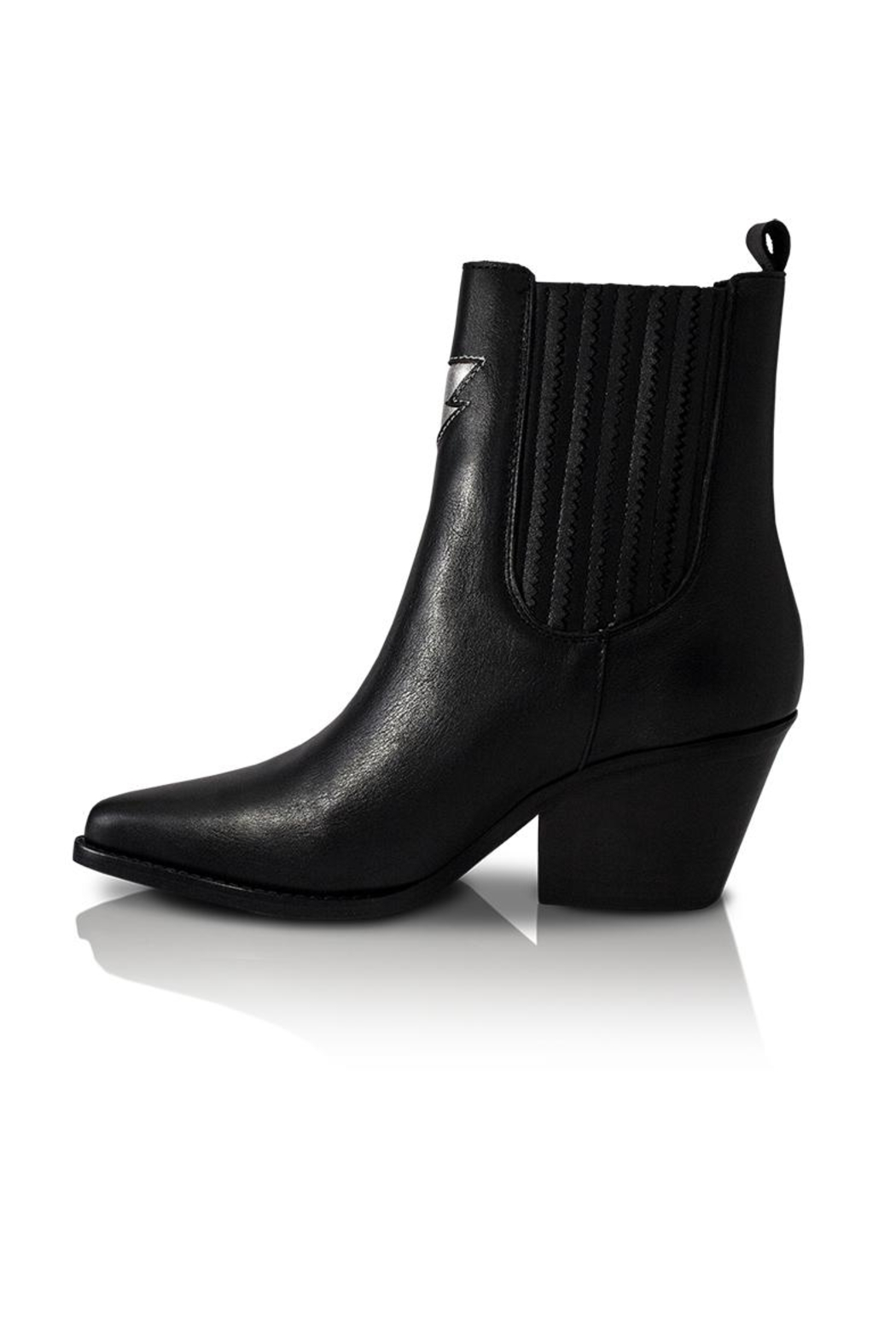 Bala Di Gala Lyra Black Leather Bootie - Front Cropped Image