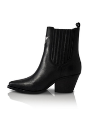 Bala Di Gala Lyra Black Leather Bootie - Front cropped