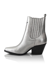 Bala Di Gala Lyra Silver Leather Bootie - Product Mini Image