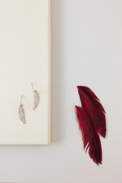 Shoptiques Product: Dangle Feather Earrings