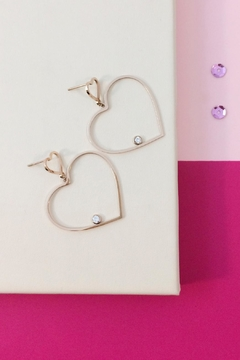 Shoptiques Product: Dangle Heart Earrings