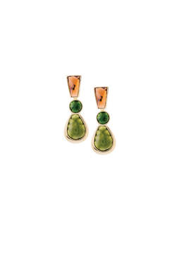 Balangandãs Green Agata Earrings - Product List Image