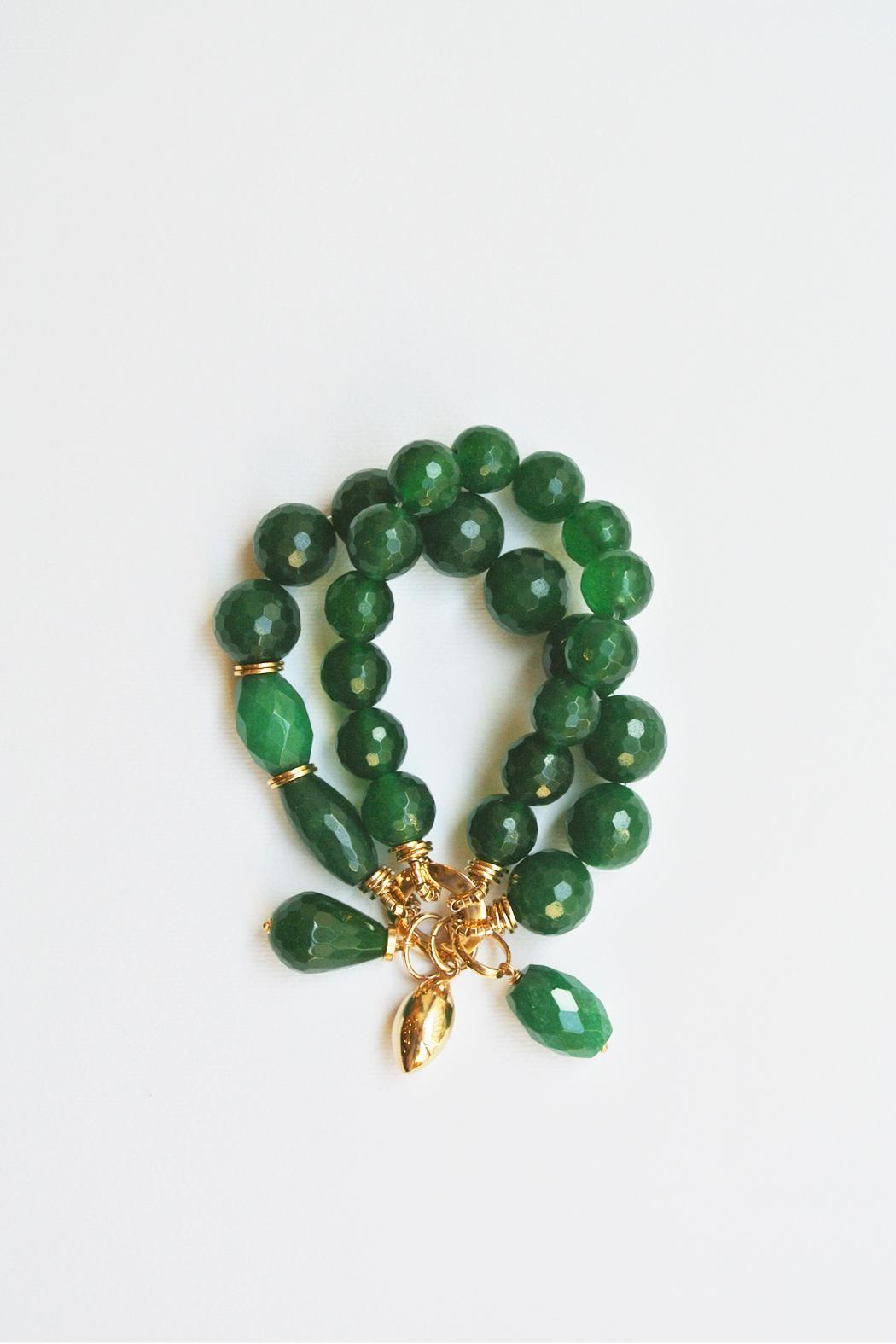 balangand 227 s green agate bracelet from milan by balangand 227 s