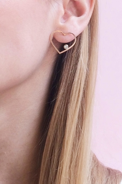 Shoptiques Product: Heart Studs