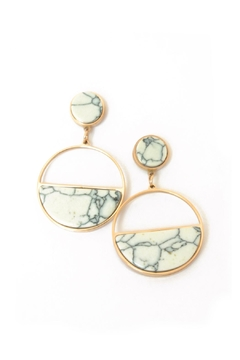 Balangandãs Marble Effect Earrings - Product List Image