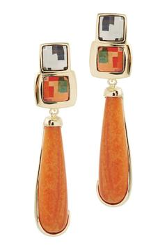 Balangandãs Orange Dangle Earrings - Product List Image