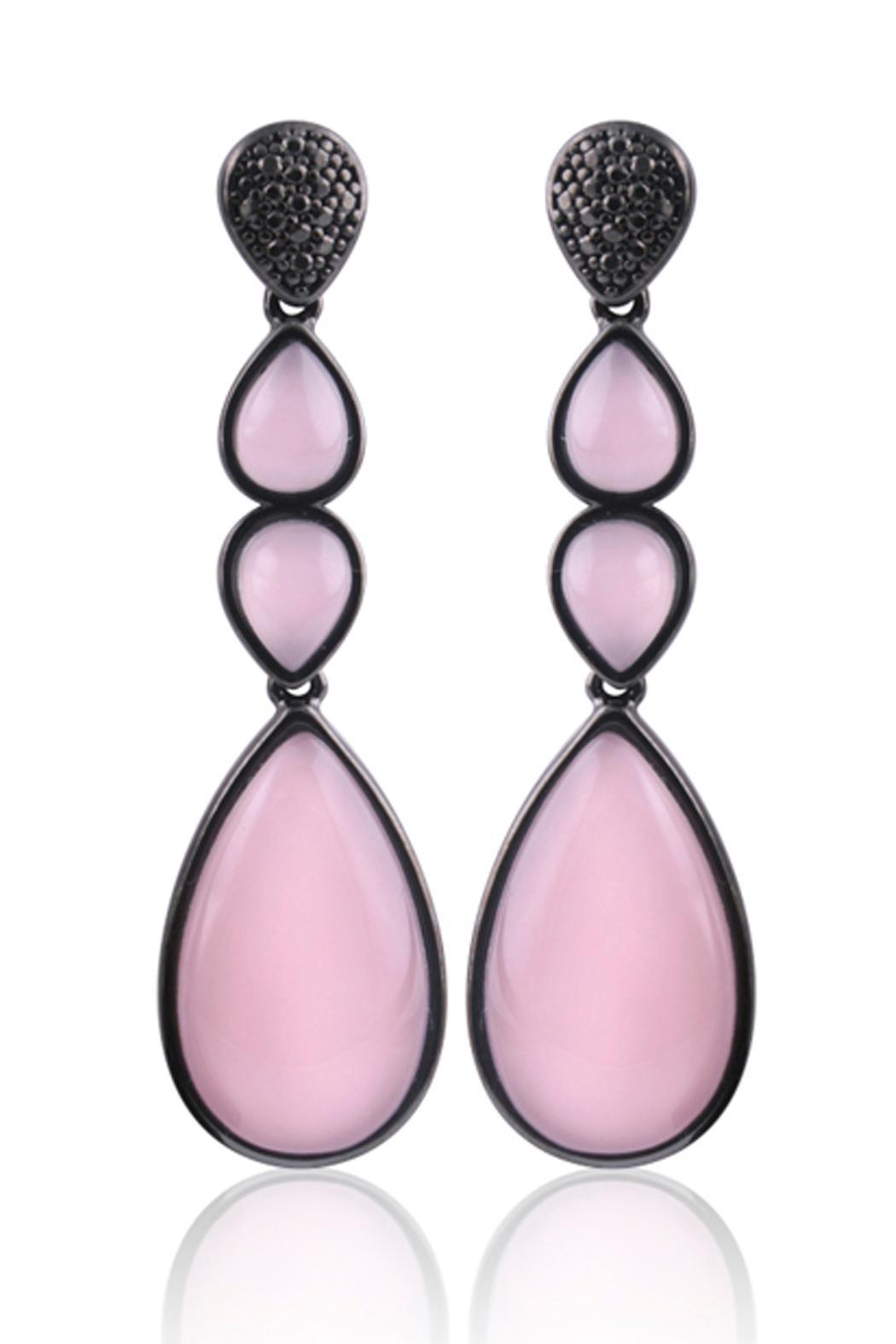 Balangandãs Pink Dangle Earrings Front Cropped Image