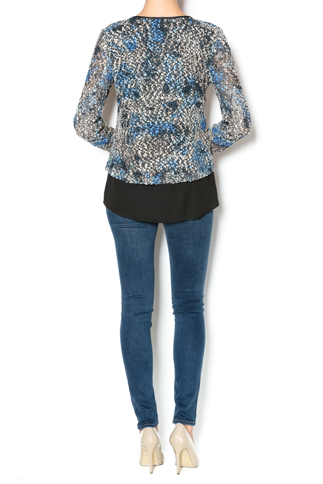a157e10fb30 Bali Blue Overlay Top from Kentucky by Lee Stephens — Shoptiques