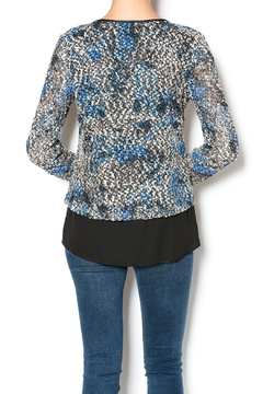 Shoptiques Product: Blue Overlay Top