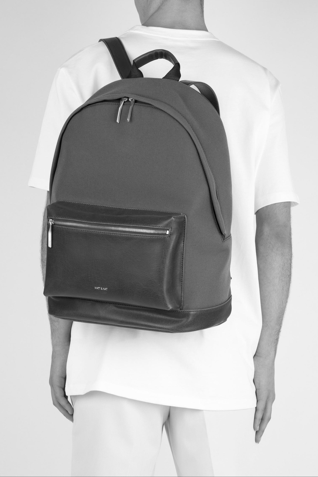 Matt & Nat Bali-Lg Canvas Backpack - Side Cropped Image