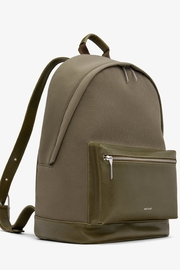 Matt & Nat Bali-Lg Canvas Backpack - Front full body