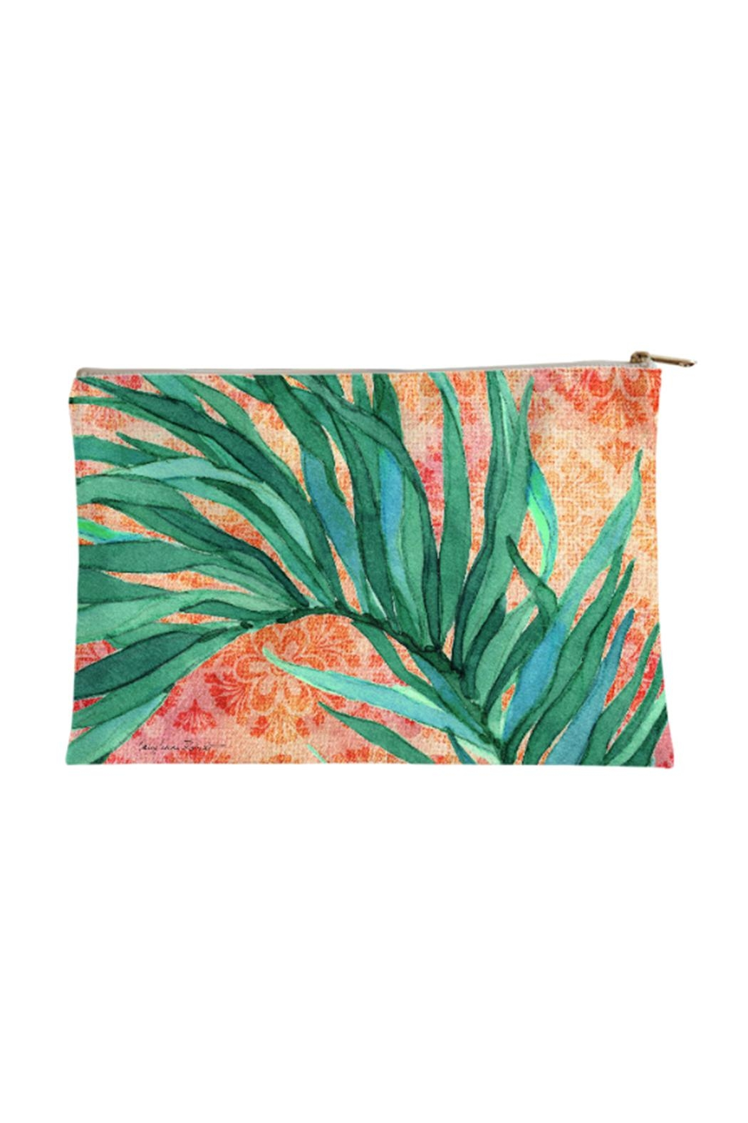Sally Eckman Roberts Bali Palm Pouch - Front Cropped Image