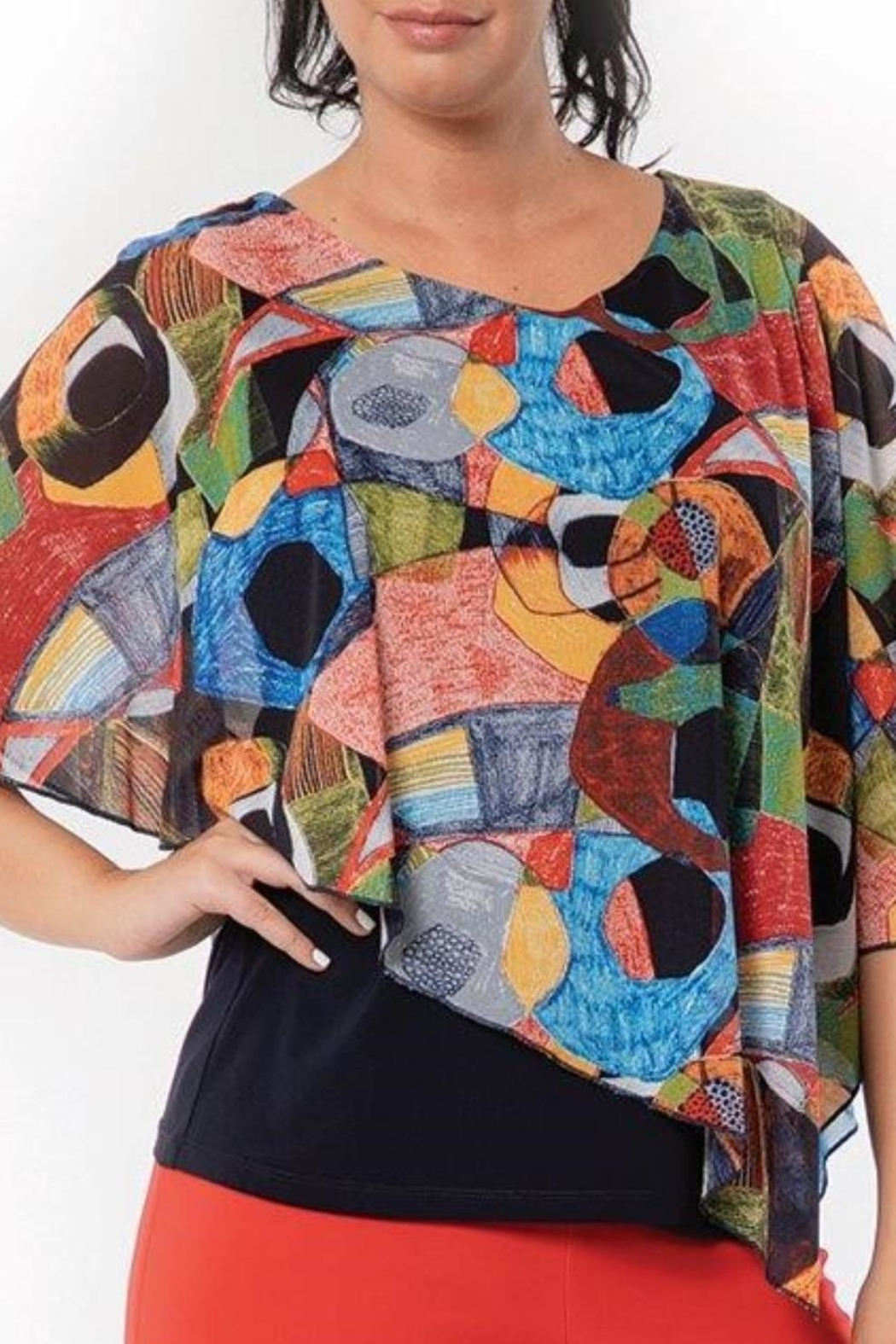 Bali Picasso Multi Top - Front Cropped Image