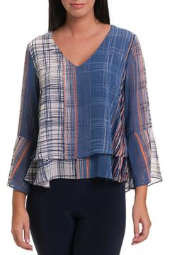 Shoptiques Product: Plaid Bell Sleeve Top