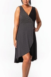 Bali Polka Dot Faux Wrap Dress - Front cropped