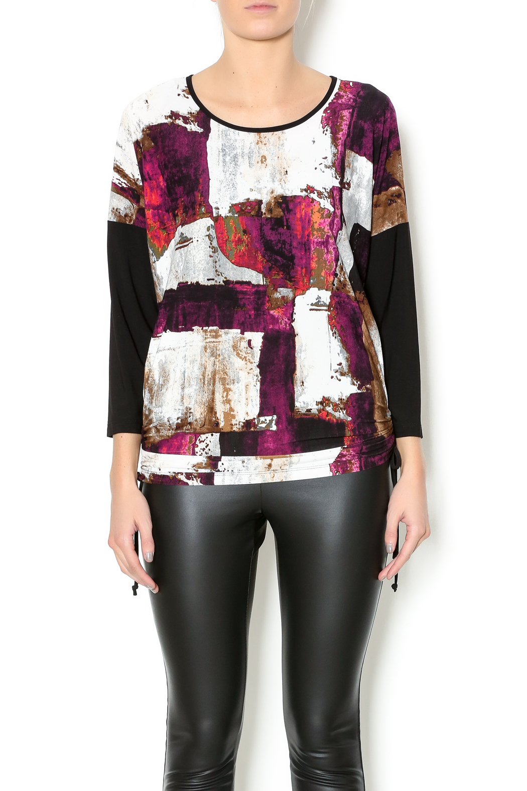 Bali Purple Multicolor Top - Front Cropped Image