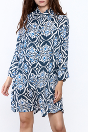 Bali Queen Blue Nantucket Shirt Dress - Product Mini Image