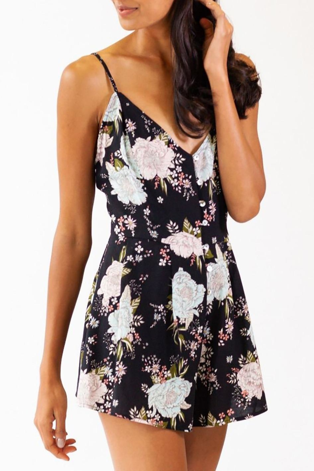 Pink Martini Collection Bali Romper - Back Cropped Image
