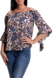 Bali Corp. Flounce Sleeve Blouse - Product Mini Image