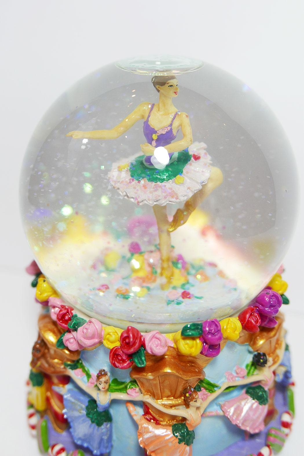 Ball erina Musical Snowglobe - Side Cropped Image