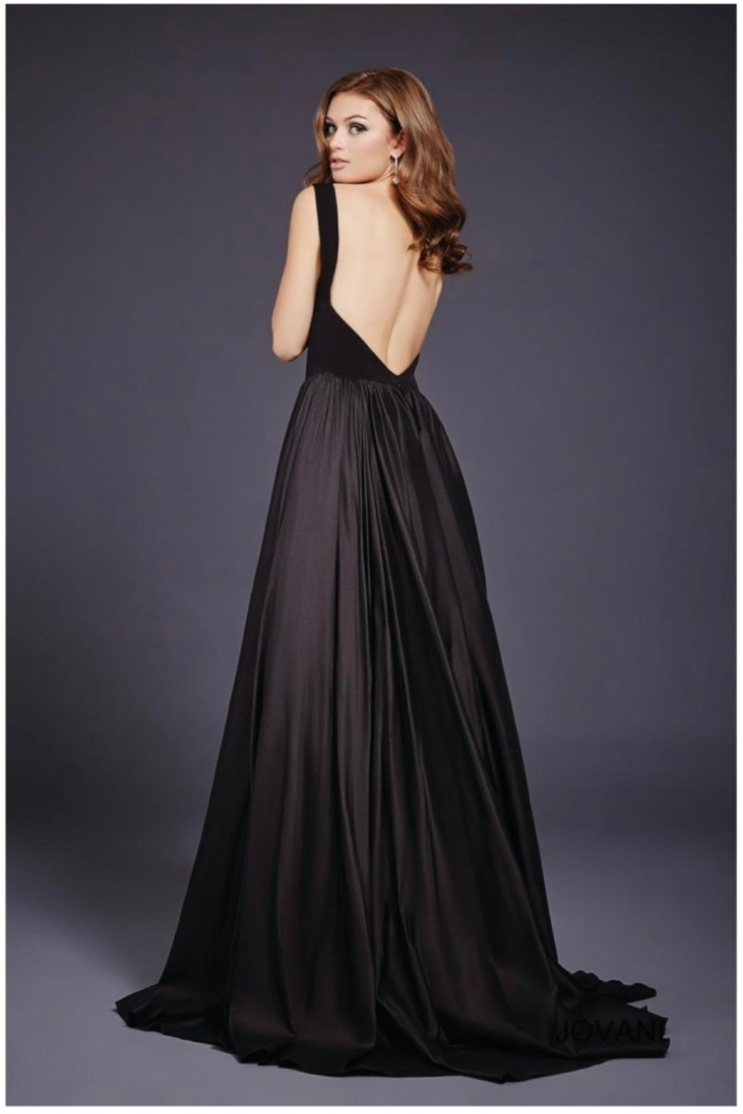 JOVANI FASHIONS BALLERINA IN V GOWN - Front Full Image