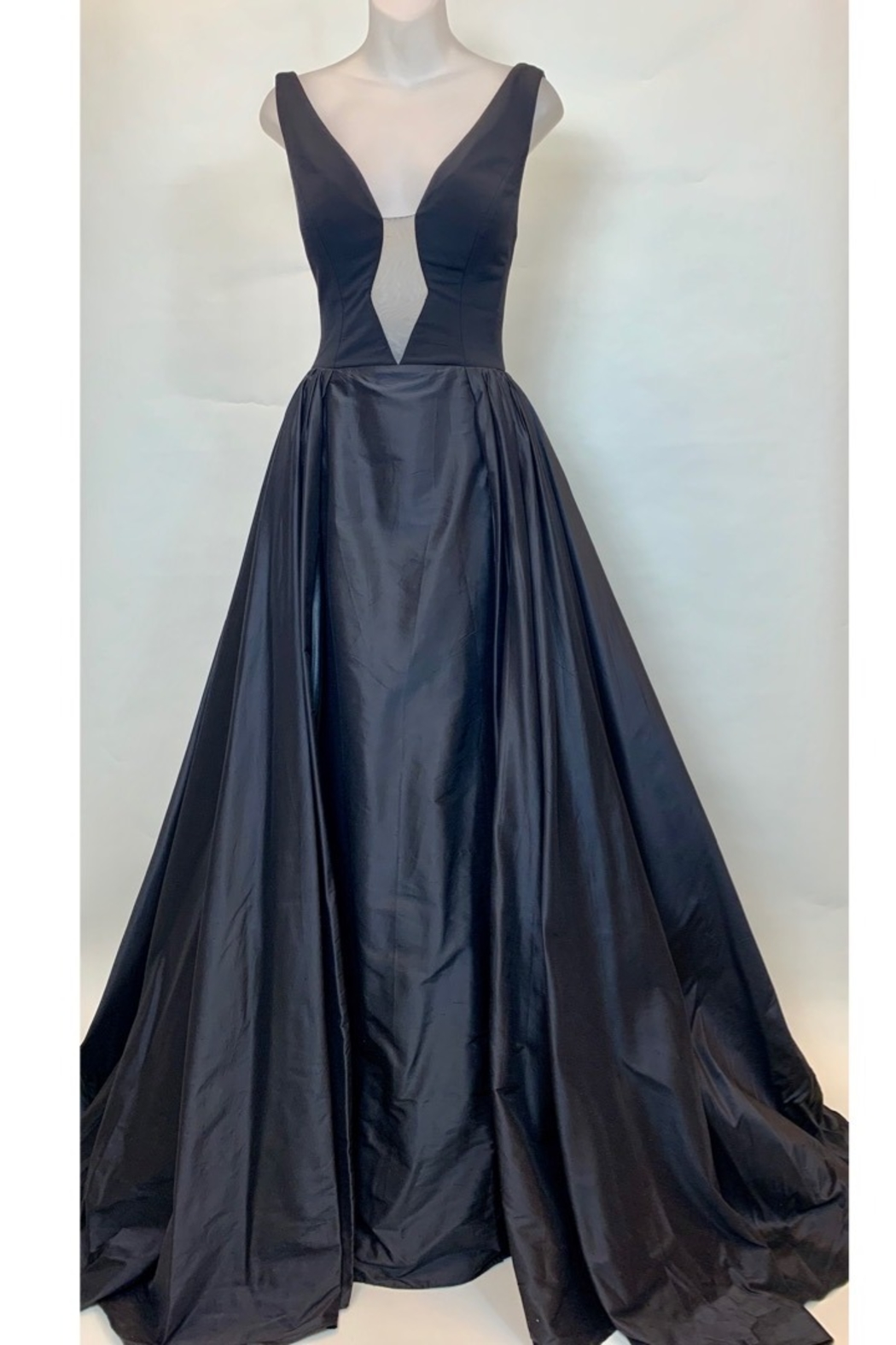 JOVANI FASHIONS BALLERINA IN V GOWN - Back Cropped Image