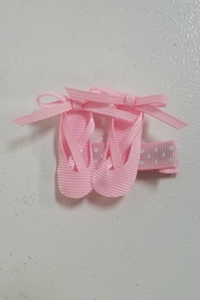 Beyond Creations Ballerina Slippers Ribbon-Sculpture-Hair-Clip - Front cropped