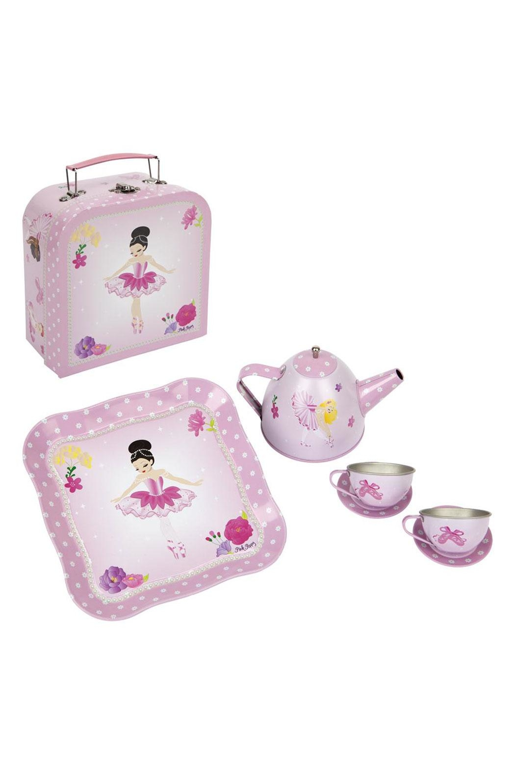 Pink Poppy Ballerina Tea Set - Front Cropped Image