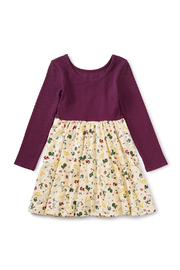 Tea Collection Ballet Skirted Dress - Ripe Strawberries - Side cropped