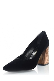 Ballin Black Velvet Pump - Front cropped