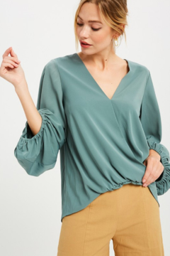 Wishlist Balloon Sleeve Surplice Blouse - Product List Image