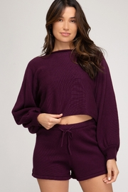 She + Sky Balloon Sleeve Sweater - Product Mini Image