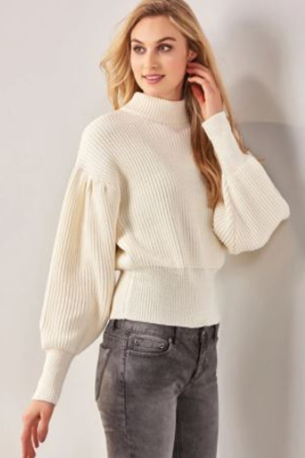 Charlie Paige  Balloon Sleeve Sweater - Main Image