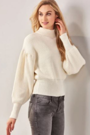 Charlie Paige  Balloon Sleeve Sweater - Front cropped