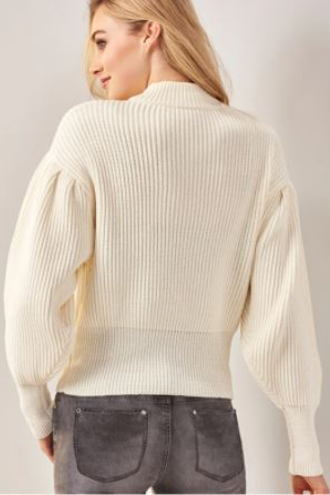 Charlie Paige  Balloon Sleeve Sweater - Side Cropped Image