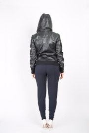 BAM Macy Leather Hoodie - Side cropped