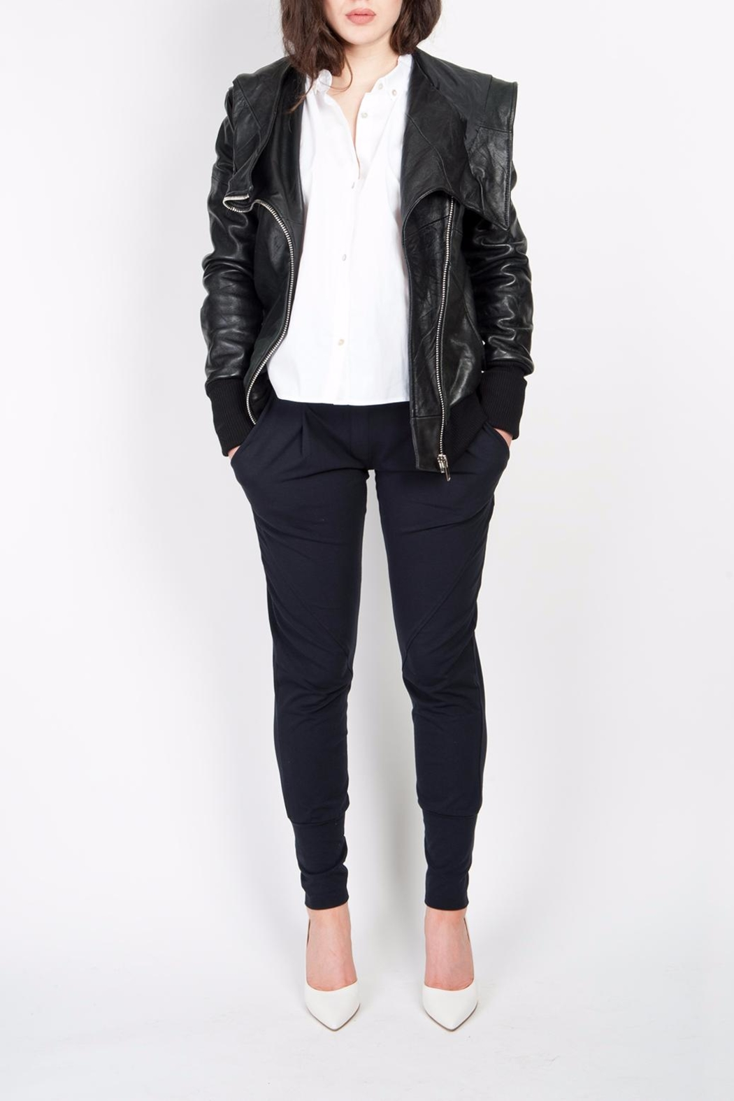 BAM Macy Leather Hoodie - Front Full Image